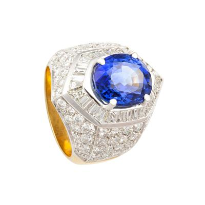Ella Gafter Ella Gafter Ceylon Blue Sapphire Diamond Cocktail Ring