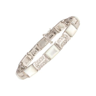 Ella Gafter Ella Gafter Diamond Bracelet with Mother of Pearl