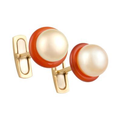 Ella Gafter Ella Gafter Golden Pearl Ladies Cufflinks