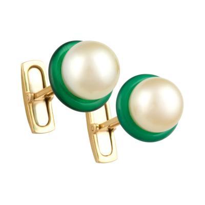 Ella Gafter Ella Gafter Golden Pearl Lady s Cufflinks