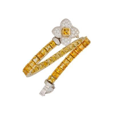 Ella Gafter Ella Gafter Golden Yellow Sapphire Diamond Bracelet