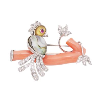 Ella Gafter Ella Gafter Love Bird Diamond Brooch Pin