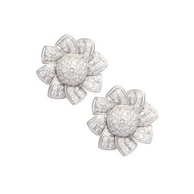 Ella Gafter Ella Gafter Pave Diamond Flower Earrings