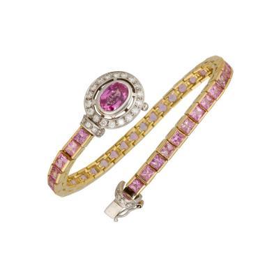Ella Gafter Ella Gafter Pink Sapphire Diamond Color Bracelet