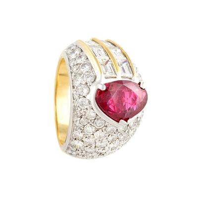 Ella Gafter Ella Gafter Ruby Diamond Cocktail Pinky Ring