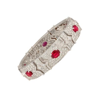 Ella Gafter Ella Gafter Ruby and Diamond Bracelet