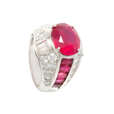Ella Gafter Ella Gafter Ruby and Diamond Cocktail Pinky Ring