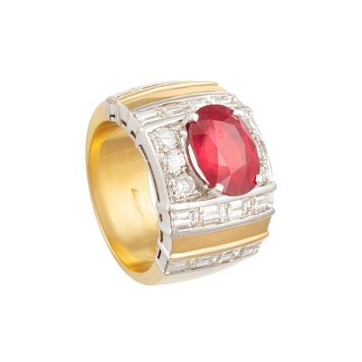 Ella Gafter Ella Gafter Ruby and Diamond Cocktail Ring