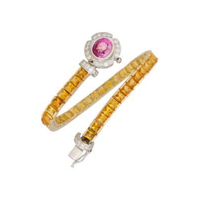 Ella Gafter Ella Gafter Sapphire Diamond Line Color Bracelet