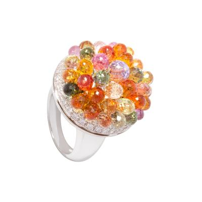 Ella Gafter Ella Gafter Sapphire Diamond Tutti Frutti Ring