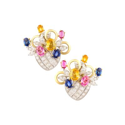 Ella Gafter Ella Gafter Sapphire and Diamond Earrings