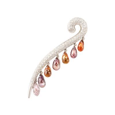 Ella Gafter Ella Gafter Sapphire and Diamond Stick Pin