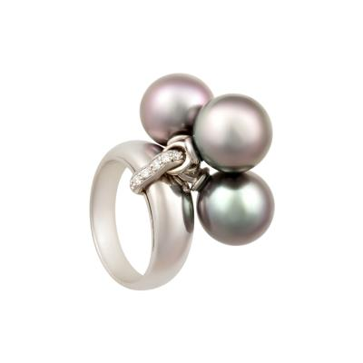 Ella Gafter Ella Gafter Tahitian Pearl and Diamond Ring