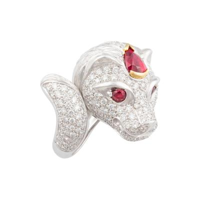 Ella Gafter Ella Gafter Zodiac Leo Ring with Ruby and Diamonds
