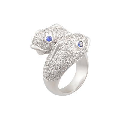 Ella Gafter Ella Gafter Zodiac Pisces Ring with Diamonds and Sapphire