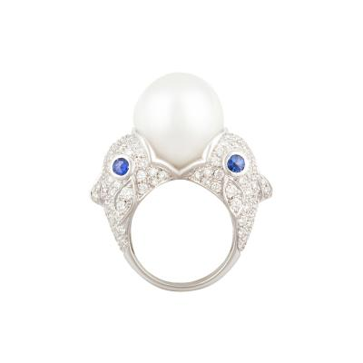 Ella Gafter Ella Gafter Zodiac Pisces Ring with South Sea Pearl and Diamonds