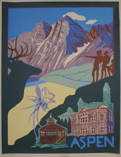 Ellen Lanyon Aspen An American Travel Poster 1994