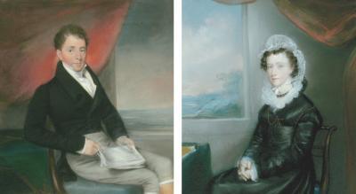 Ellen Wallace Sharples Pair of Portraits
