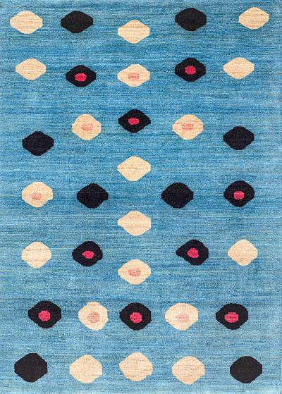 Ellipse in Blue Retro Collection NOV24 Studio for Zollanvari Fine Gabbeh