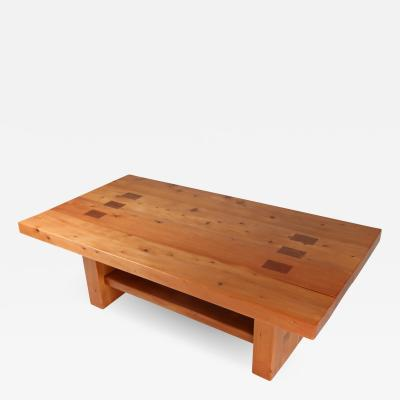 Elm Dining table in the manner of Chapo 1960s