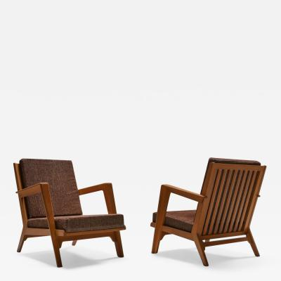Elmar Berkovich Modernist easy chairs by Elmar Berkovich 1950s