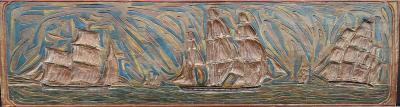 Elmer Livingston MacRae Elmer MacRae carving of ships