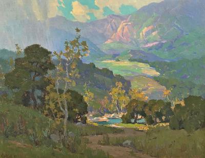 Elmer Wachtel Misty Sunlight Topanga