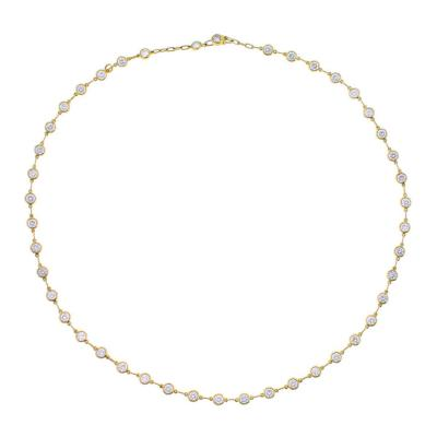 Elsa Peretti Elsa Peretti Diamond by the Yard Gold Necklace