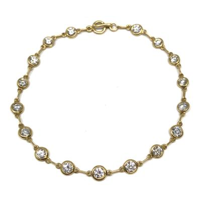 Elsa Peretti Tiffany Co Diamonds by the Yard Bracelet by Elsa Peretti