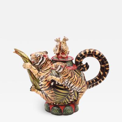 Elvis Bonginkosi Mkhize Tiger Teapot