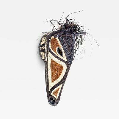 Embera Weaver Brown and Black Horse Mask by Embera Weaver