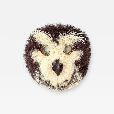 Embera Weaver Fuzzy Brown Spotted Owl Embera Mask