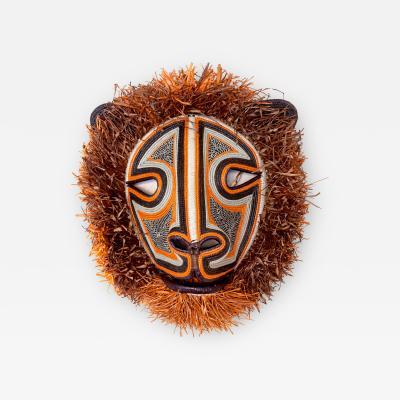 Embera Weaver Fuzzy Cat Mask by Indigenous Embera Weaver