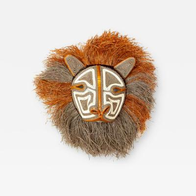 Embera Weaver Fuzzy Gray Brown Haired Cat Embera Mask