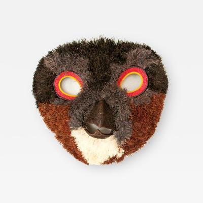 Embera Weaver Half smile Owl Mask by Embera weaver Roxana Barrigon