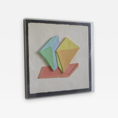 Emboss Geometric 3D Collage Painting by Ricki McNeill