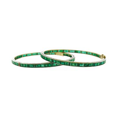 Emerald Bangle Bracelets