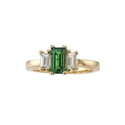 Emerald cut Emerald Diamond Ring