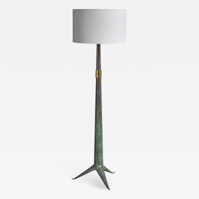 Emiel Veranneman Emiel Veranneman bronze floor lamp Belgium 1940s 50s