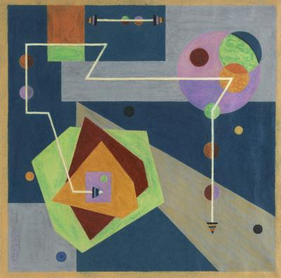Emil James Bisttram Abstraction