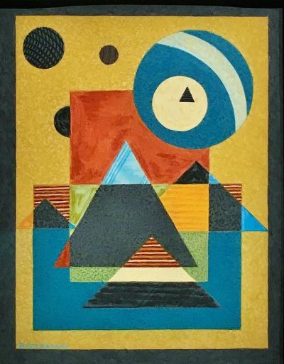 Emil James Bisttram Geometric Abstraction 1940 by James Emil Bisttram
