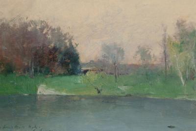 Emil Soren Emil Carlsen Lake Scene