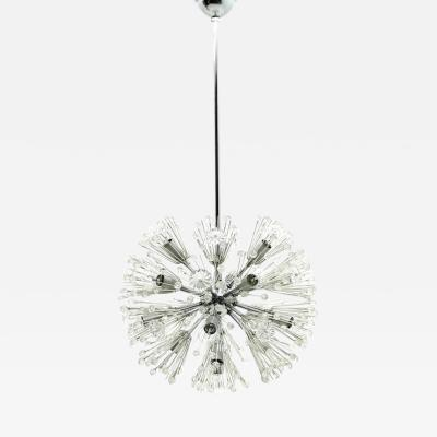 Emil Stejnar Emil Stejnar Chandelier Snowball Glass Seventeen Lights Austria 1960
