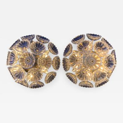 Emil Stejnar Pair German Floral Glass Sconces
