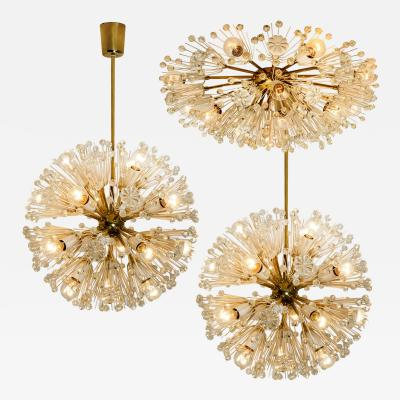 Emil Stejnar Set of 3 Fabulous Emil Stejnar Snowball Orbit Sputnik Light Fixtures Austria