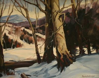 Emile Albert Gruppe Beeches in Snow