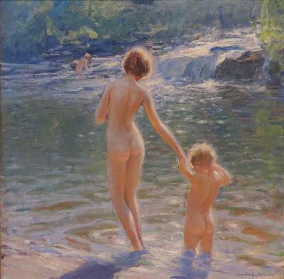 Emile Albert Gruppe Morning Bath