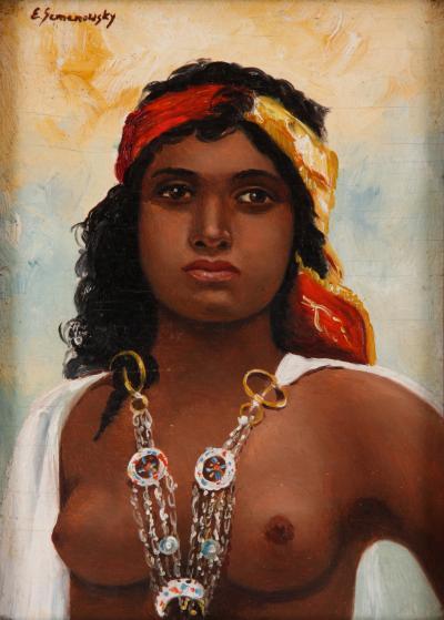 Emile Eisman Semenowsky Moroccan Girl Emile Eisman Semenowsky 1857 1911 Circa 1880