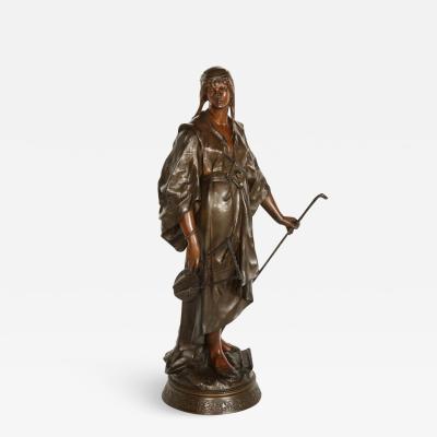 Emile Louis Picault a French Orientalist Bronze Figure of Queen Esther