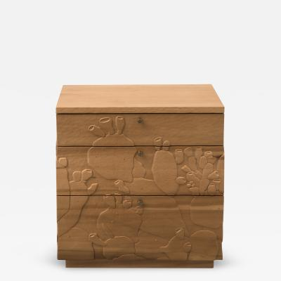 Emily Henry Happy s Curios Three Drawer Side Table in Poplar by Emily Henry